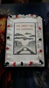 THE CAKE, featuring Patrick Hunter's fabulous cover.